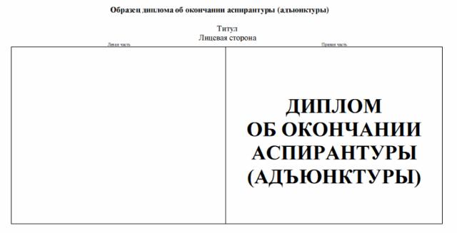 Диплом для закончивших аспирантуру phd в России Этот дипломчик практическая ценность которого весьма сомнительна выглядит следующим образом