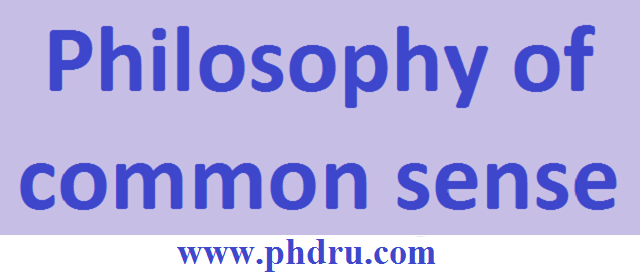Philosophy of common sense